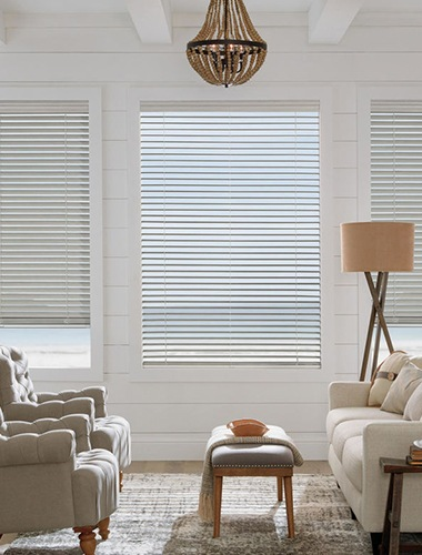 Hunter Douglas blinds in living room