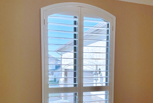 Custom shutters inside home