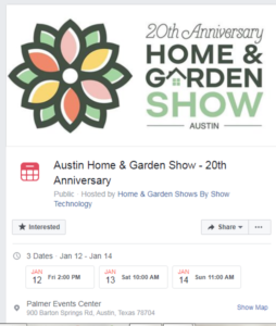 20th anniversary home and garden show