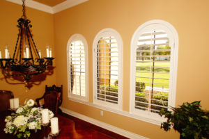 Custom Plantation Shutters for Arched Windows